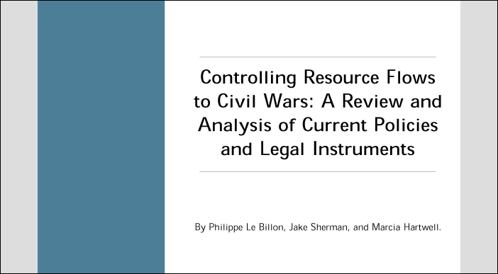 an analysis of resource wars the 2 for a review of the literature on war economies and the political economy of   according to the abundant resource wars argument, primary commodities are.