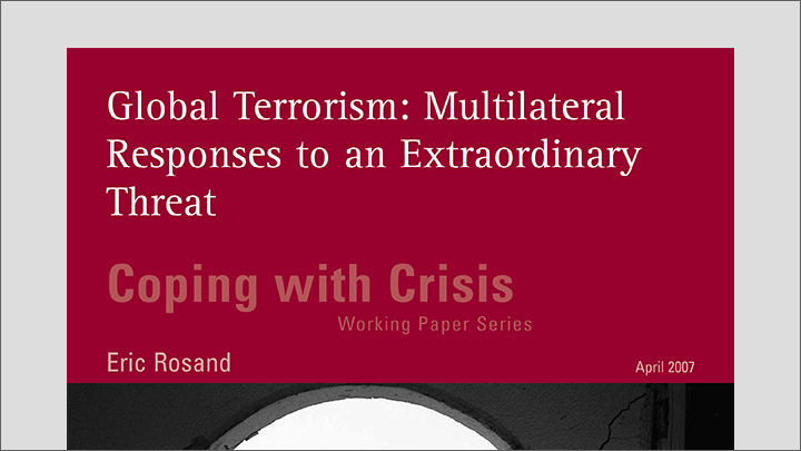 essay terrorism threat global peace Islamic state of iraq and syria – a threat to global peace and security doi: 109790/487x-17134549 wwwiosrjournalsorg.