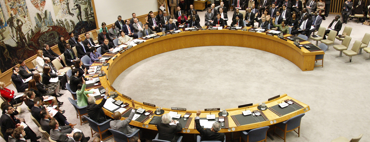 A view of the Security Council on March 17, 2011 as 10 members vote in favor of resolution 1973. (UN Photo/Paulo Filgueiras)