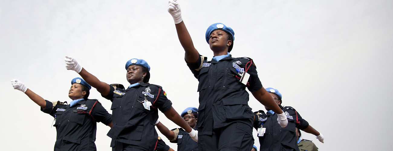 Police march at the commemoration of the International Day of UN Peacekeepers, May 29, 2011. UN Photo/Albert Gonzalez Farran.
