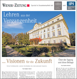 Read the Special Issue on the seminar in the Wiener Zeitung, March 13, 2015 (in German)