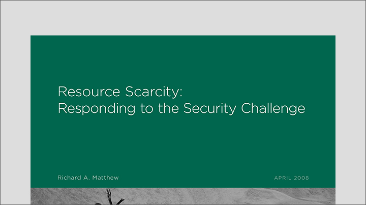 Resource Scarcity: Responding to the Security Challenge