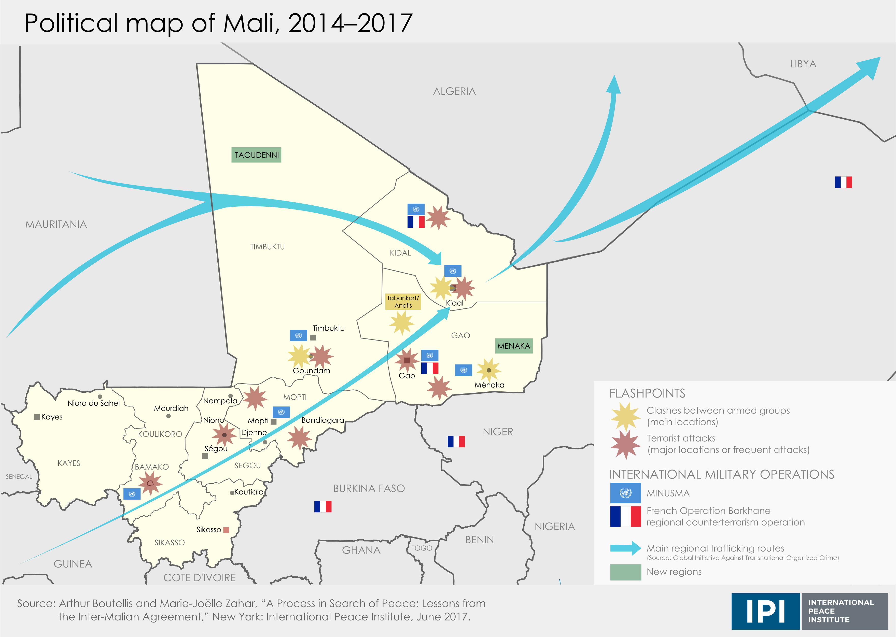 Political Map Of Mali, 2014 2017 (Click For Full Graphic)