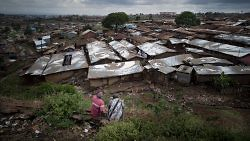 Kibera, the largest of Nairobi's slums, and the second largest urban slum in Africa, with an estimated population of between 800,000 and 1.2 million inhabitants. Nairobi, Kenya, 2010. (Ollivier Girard)