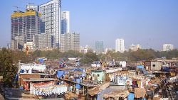 Skyscraper under construction near Dhobi Ghat in Mumbai, India, August 2, 2015. (Paulprescott72/iStock)