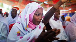 Women at an event to commemorate the 16 Days of Activism against Gender Violence, organized by UNAMID Gender Unit in El Fasher, North Darfur. (Albert González Farran, UNAMID)